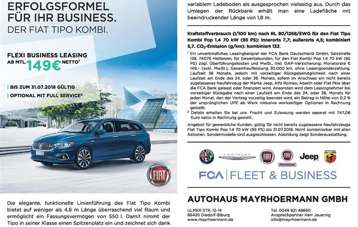 Fiat Tipo Kombi Fleet Business Angebot