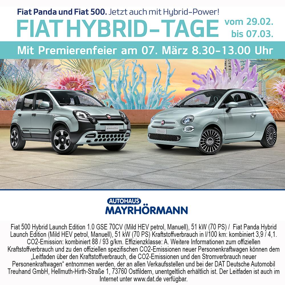 Fiat Hybrid Tage 02-2020 Autohaus Mayrhörmann