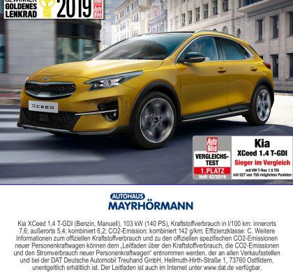 Auto des Monats 02/202: Kia XCeed // Autohaus Mayrhörmann GmbH