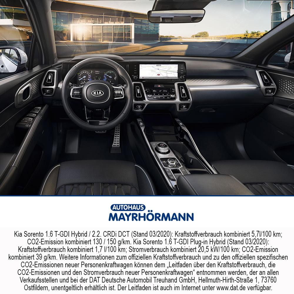 Kia Sorento 2020 360 Grad Interieur Innenraum