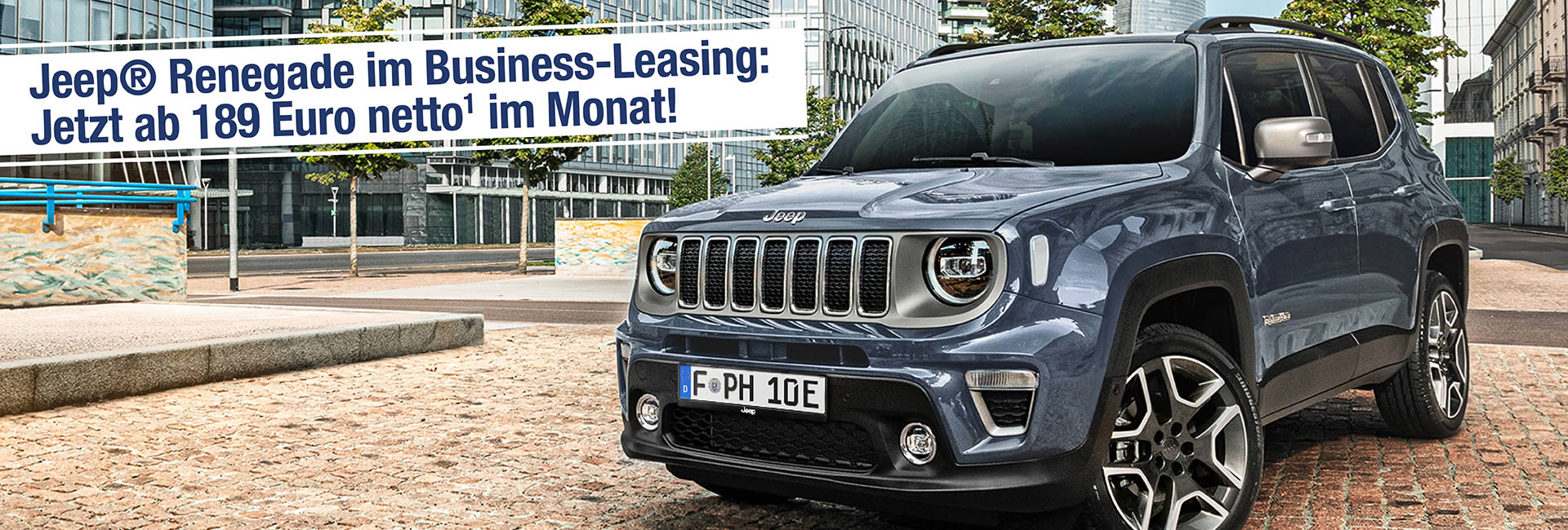 Slider – Jeep Renegade Leasing Angebot Autohaus Mayrhoermann GmbH in Augsburg – Diedorf