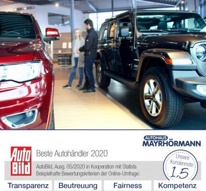 Beste Autohändler 2020 AutoBild - Autohaus Mayrhörmann GmbH