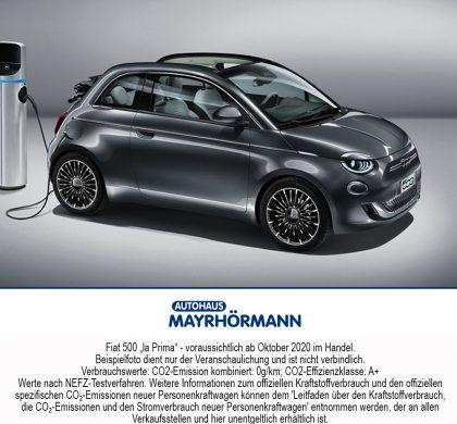 Auto des Monats 06-2020 Fiat 500 la Prima - Blog News // Autohaus Mayrhörmann GmbH