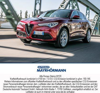 Auto des Monats 07-2020 Alfa Romeo Stelvio // Autohaus Mayrhörmann GmbH