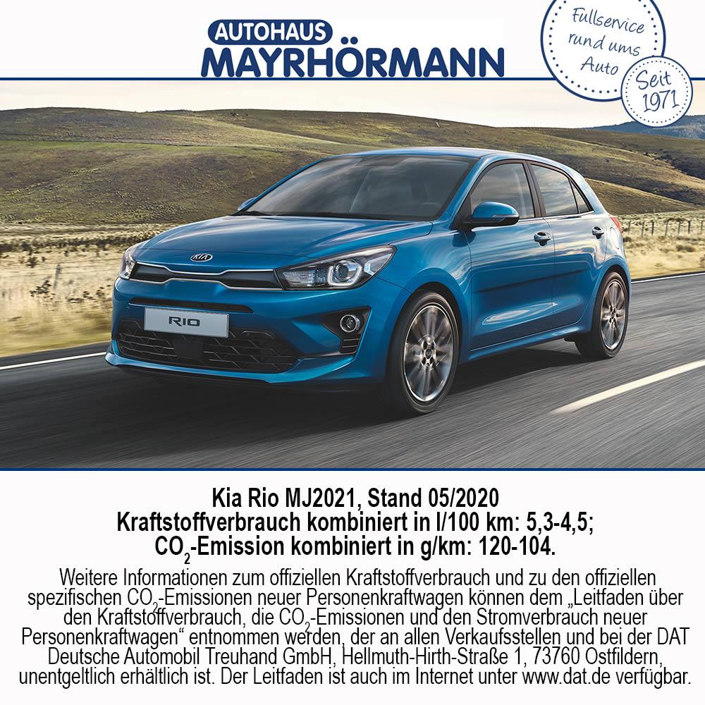 Auto des Monats 08-2020 Kia Rio - Autohaus Mayrhörmann GmbH