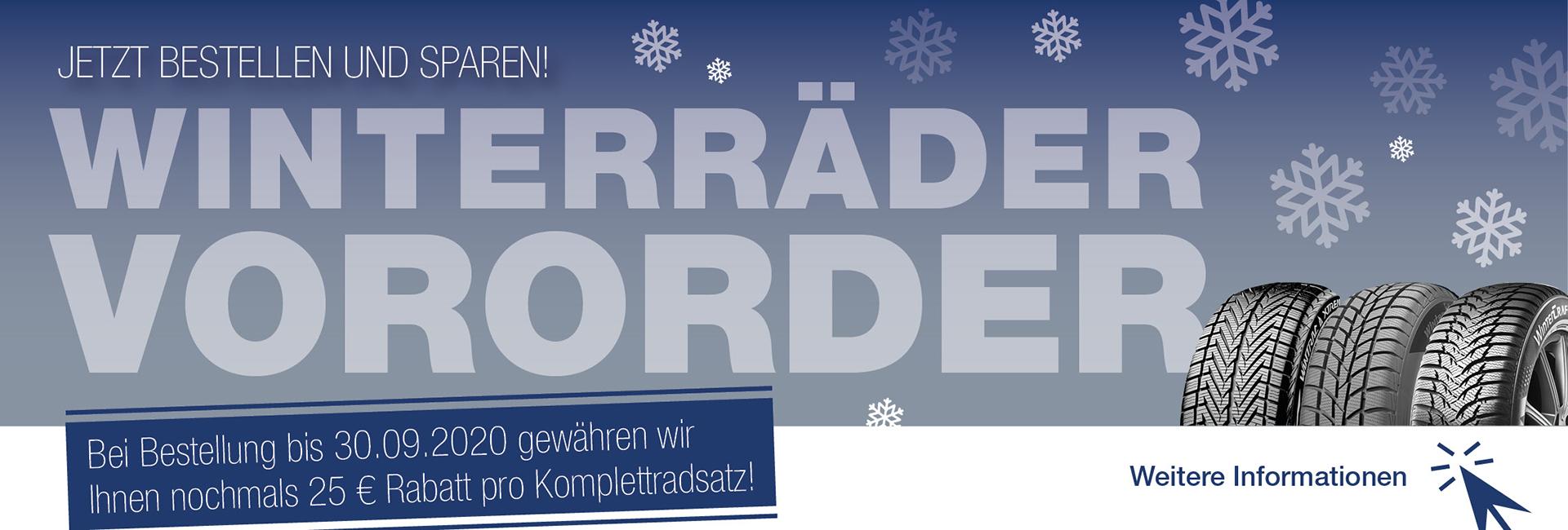 Winterreifen Vororder 2020 im Autohaus Mayrhörmann GmbH