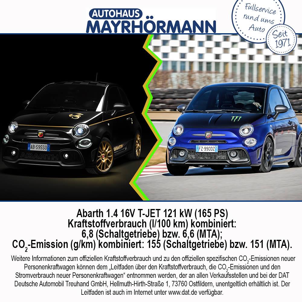 Abarth 595 Sondermodelle im Autohaus Mayrhoermann GmbH in Augsburg - Diedorf, Biburg