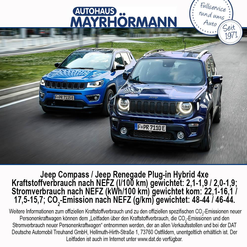 Auto des Monats 09-2020 Jeep Compass Jeep Renegade Plug-in Hybrid 4xe - Blog News