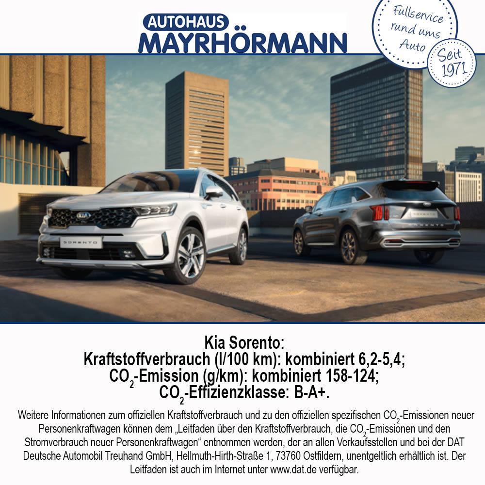 Auto des Monats 10-2020 Kia Sorento - Blog News // Autohaus Mayrhörmann GmbH