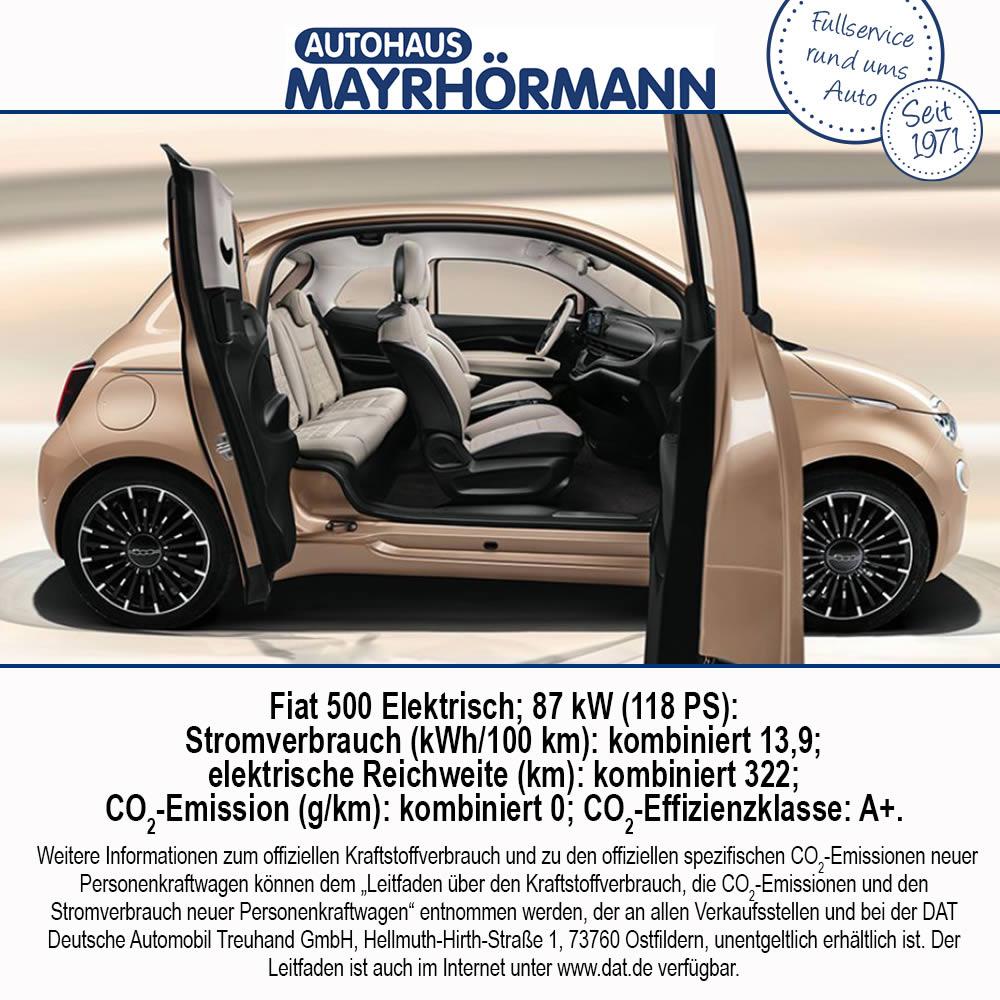 Auto des Monats 12-2020 Fiat 500 3+1 // Autohaus Mayrhörmann GmbH in Diedorf bei Augsburg