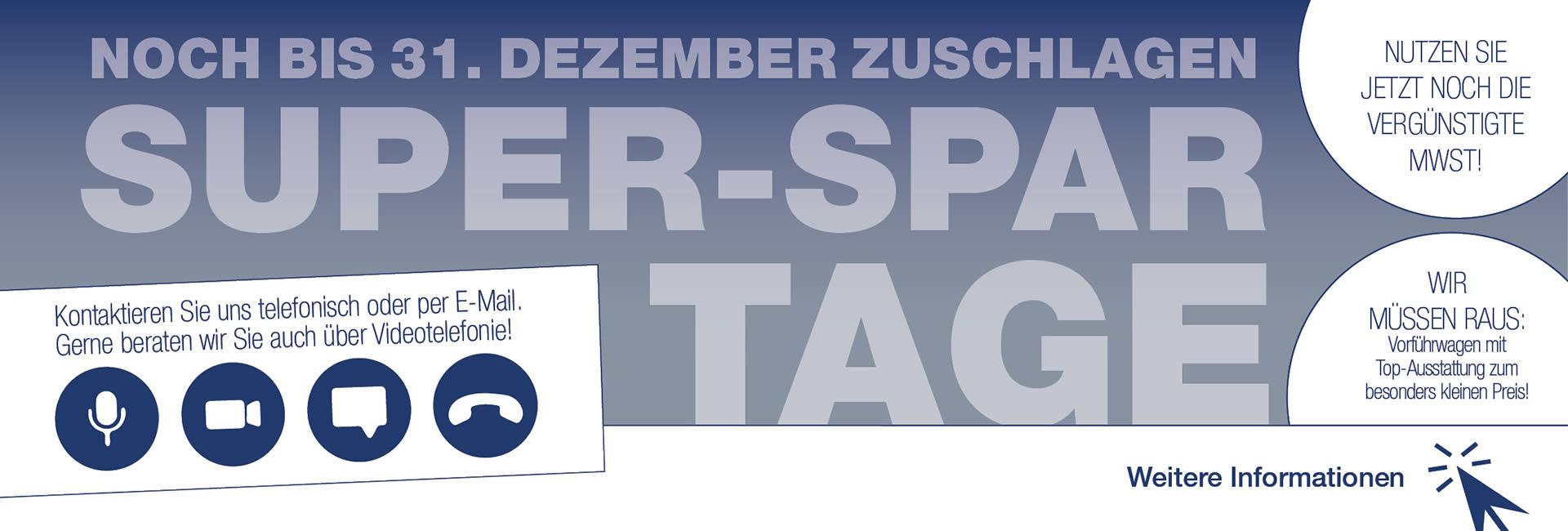 Slider Super SparTage im Autohaus Mayrhörmann GmbH 11-2020