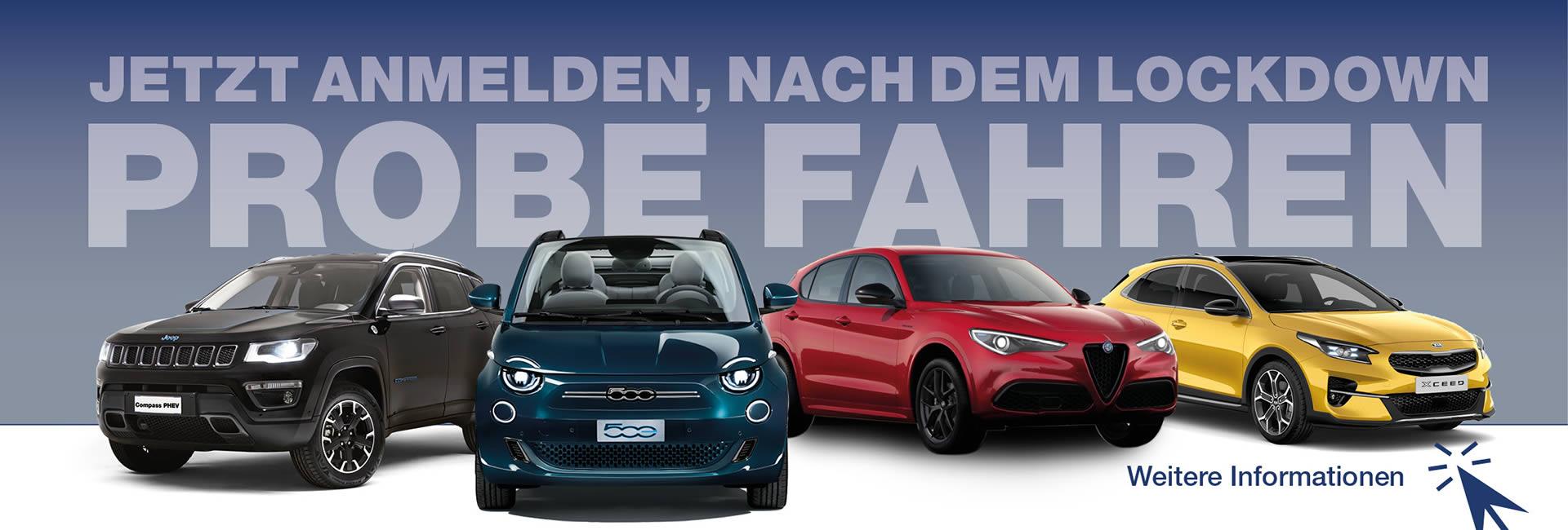 Slider Probefahrt nach Lockdown 12-2020 Autohaus Mayrhörmann GmbH