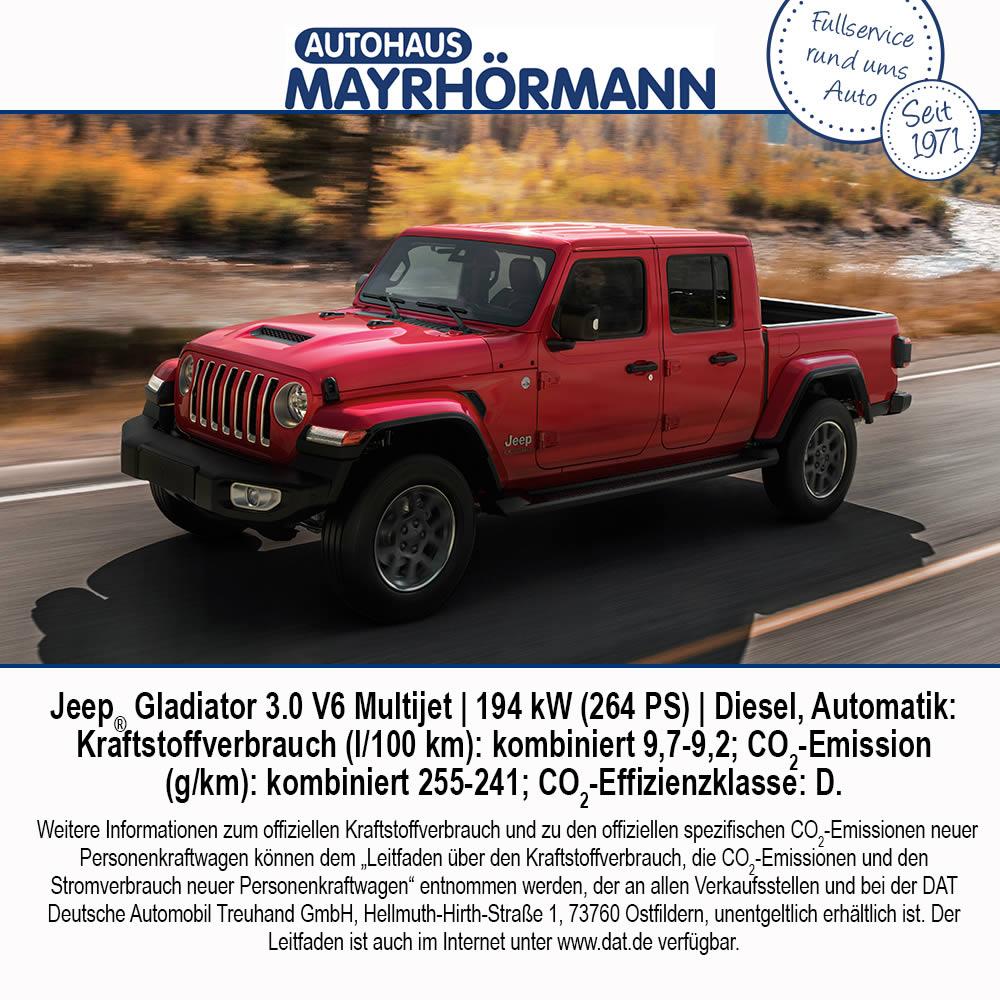 Auto des Monats 04-2021 Jeep® Gladiator - Autohaus Mayrhörmann GmbH