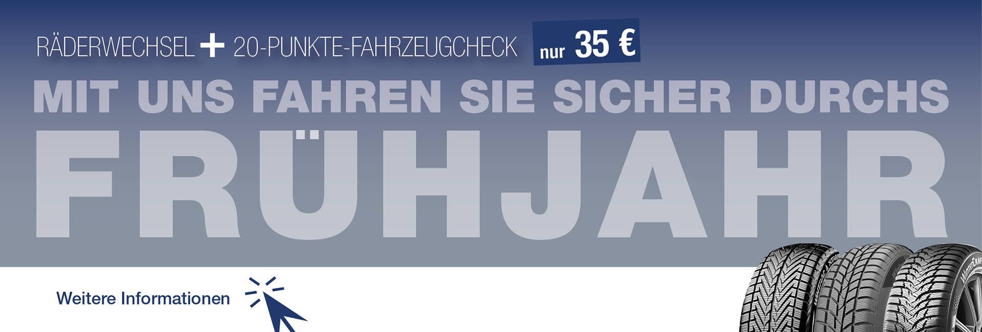 Slider Frühjahrscheck im Autohaus Mayrhörmann GmbH 2