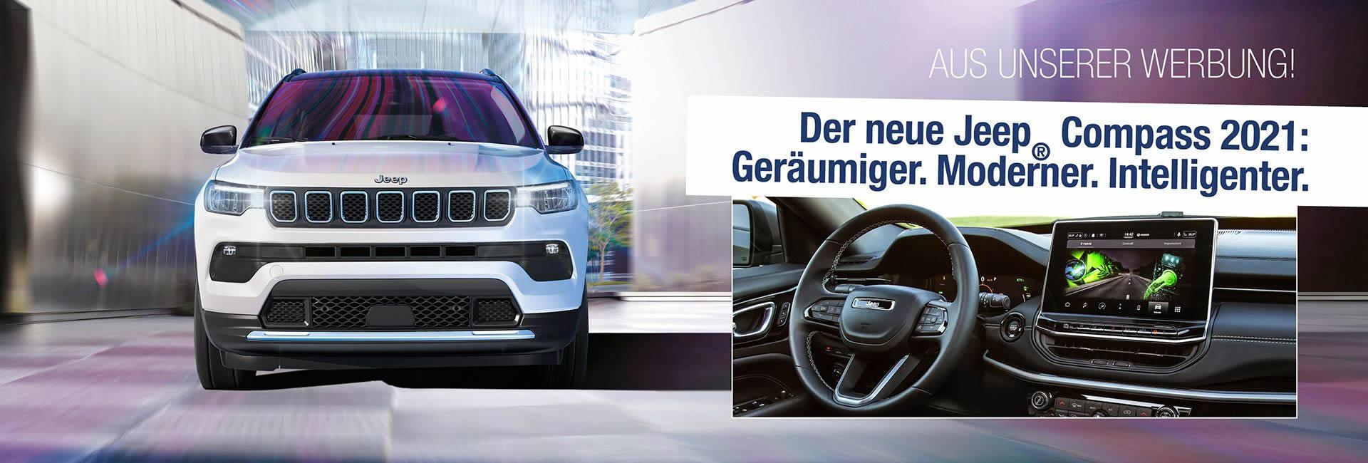 Jeep® New Compass 2021 im Autohaus Mayrhörmann GmbH in Augsburg - Diedorf