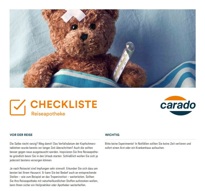 Checkliste Reiseapotheke Wohnmobil