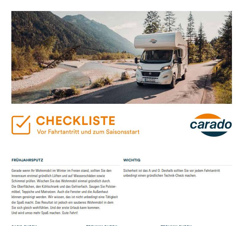 Checkliste Saisonstart Wohnmobil