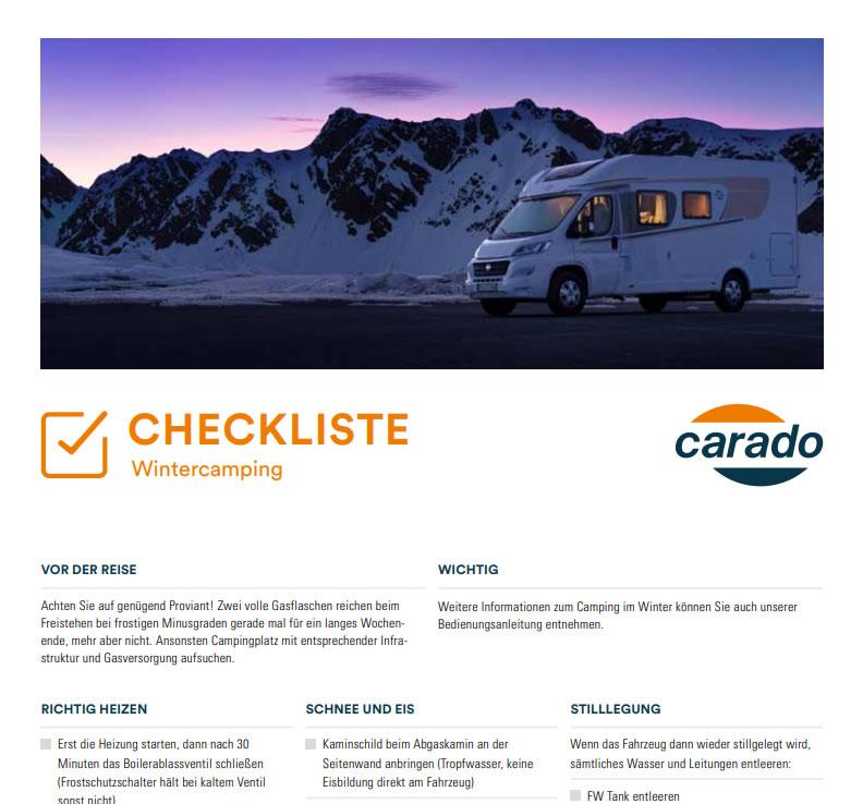 Checkliste Winterfest Wohnmobil