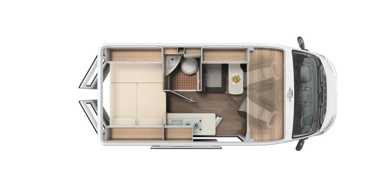 Wohnmobil in Augsburg kaufen - Carado Camper Van CV540 MJ 2021 Grundriss