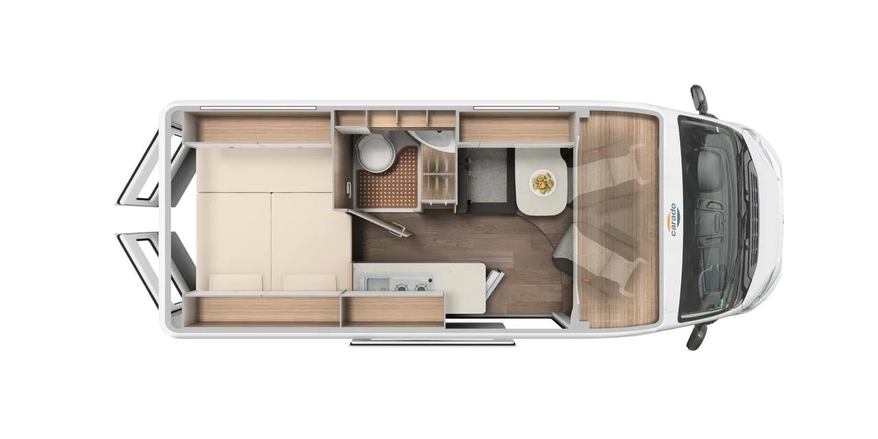 Wohnmobil in Augsburg kaufen - Carado Camper Van CV600 MJ 2021 Grundriss
