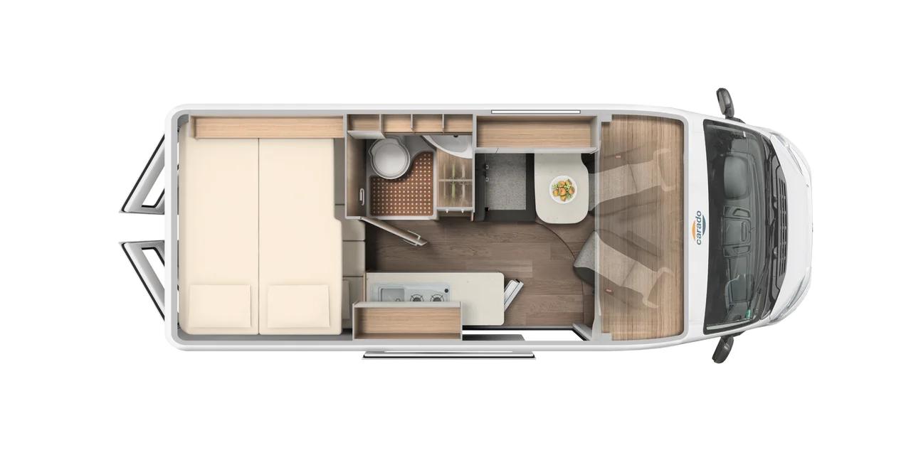 Wohnmobil in Augsburg kaufen - Carado Camper Van CV601 MJ 2021 Grundriss