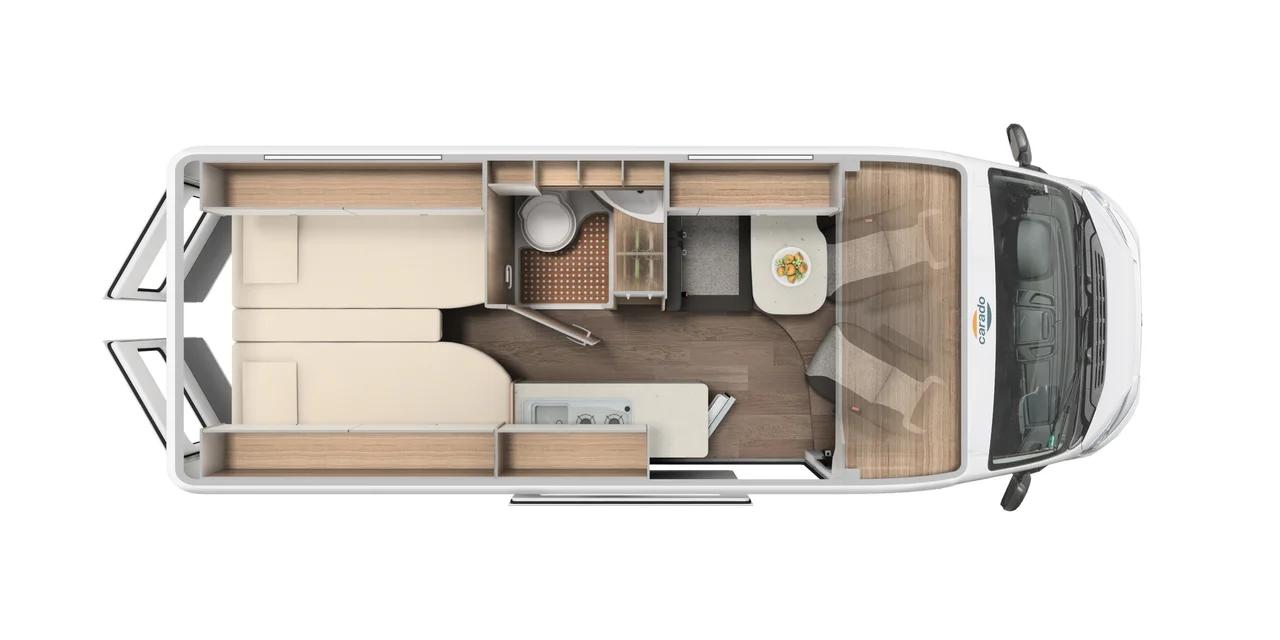 Wohnmobil in Augsburg kaufen - Carado Camper Van CV640 MJ 2021 Grundriss
