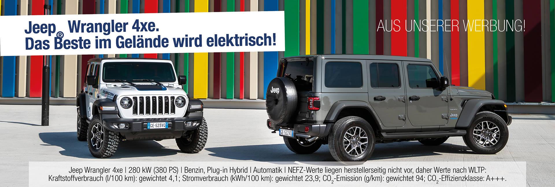 Der neue Jeep® Wrangler 4xe im Autohaus Mayrhörmann GmbH in Augsburg - Diedorf
