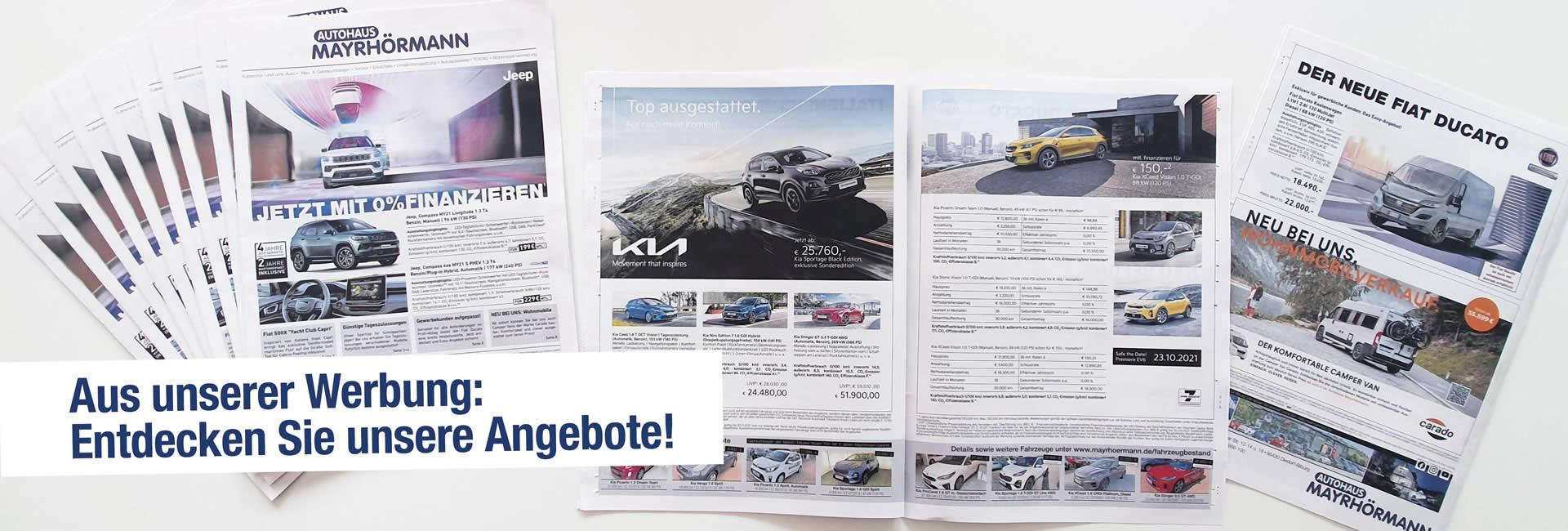 Slider aus unserer Werbung – Beilage Autohaus Mayrhörmann GmbH 09-2021