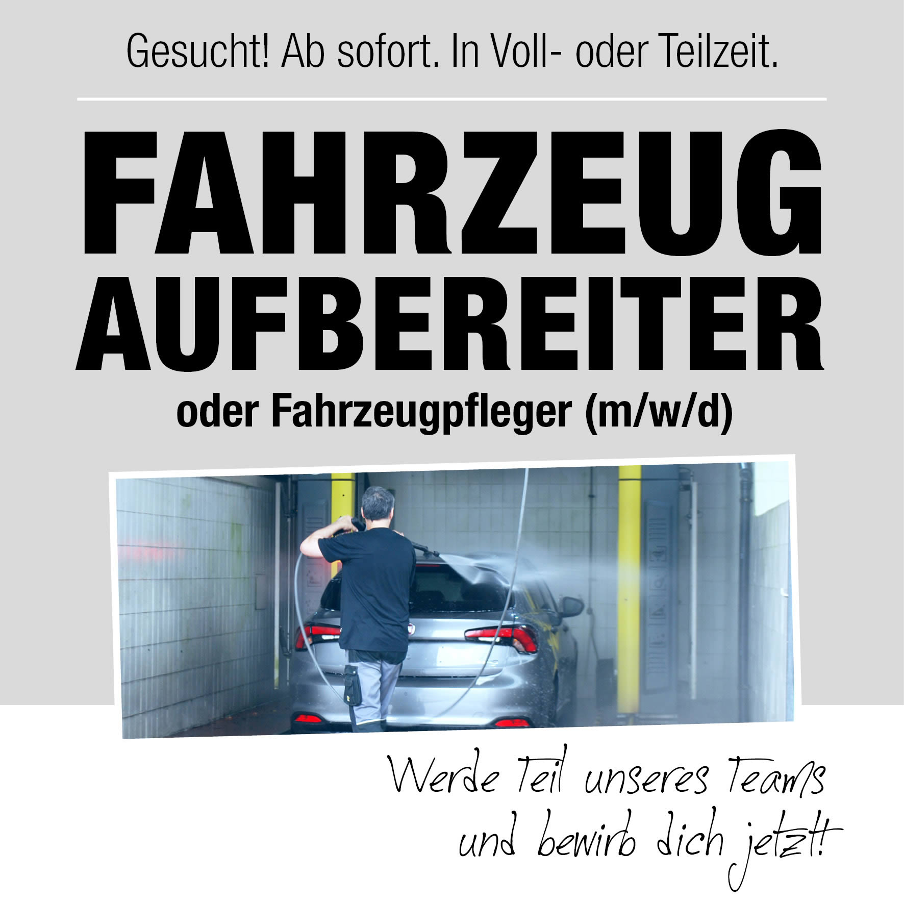 Stellenangebot Fahrzeugaufbereitung im Autohaus Mayrhörmann GmbH 09-2021