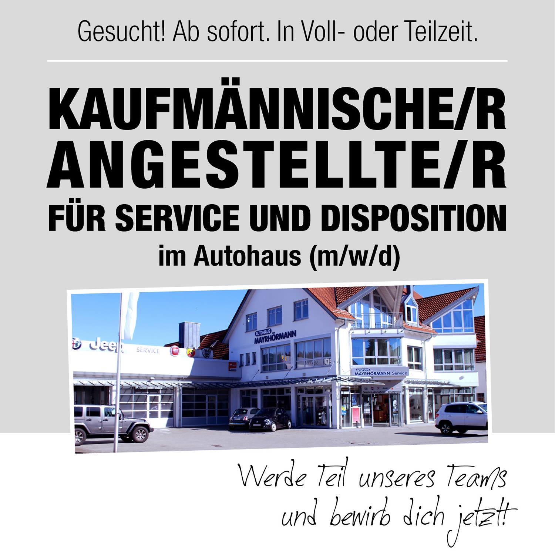 Stellenangebot Kaufmännischer Angestellter im Autohaus Mayrhörmann GmbH 09-2021