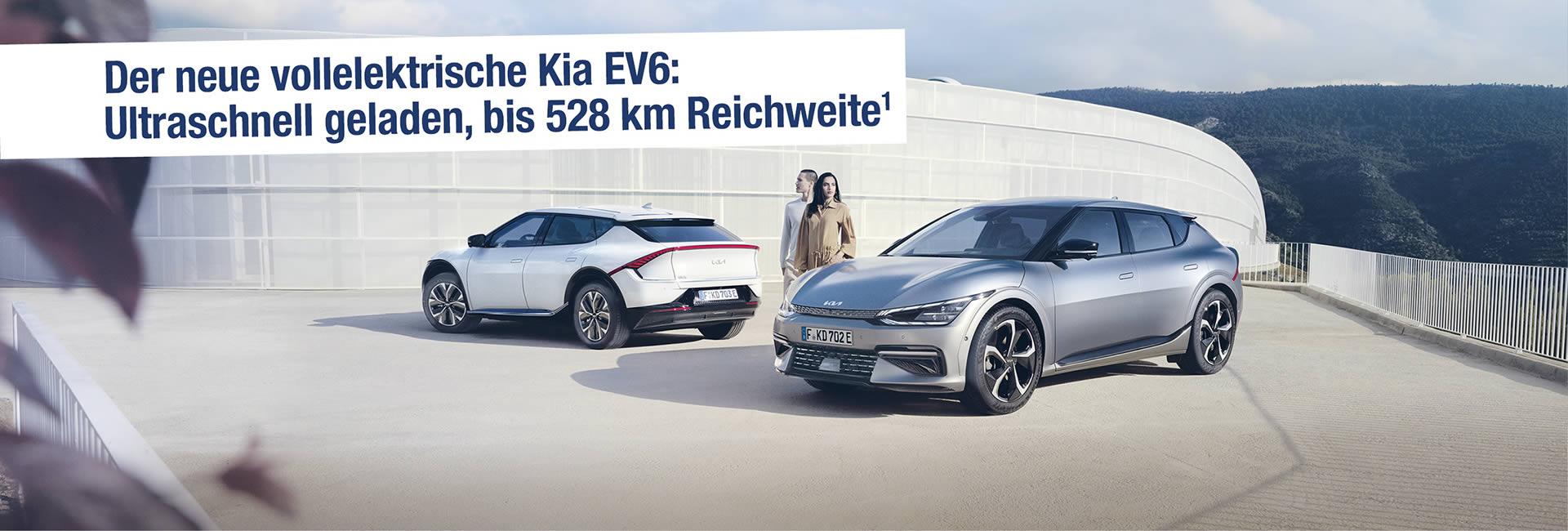 Der neue Kia EV6 im Autohaus Mayrhörmann GmbH in Diedorf bei Augsburg