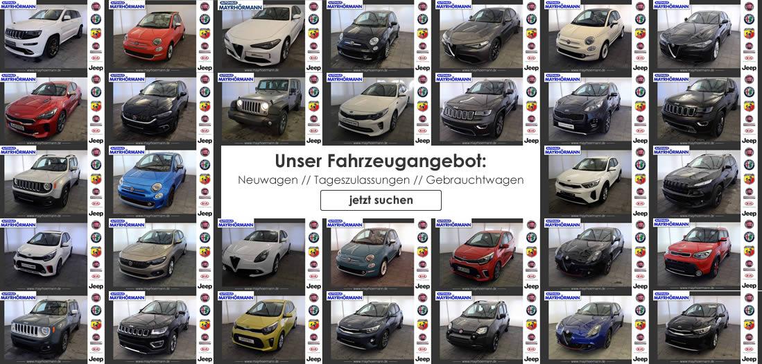 Fiat, Kia, Alfa Romeo, Abarth und Jeep® Neuwagen, Tageszulassungen und Gebrauchtwagen in Augsburg | Autohaus Mayrhörmann GmbH