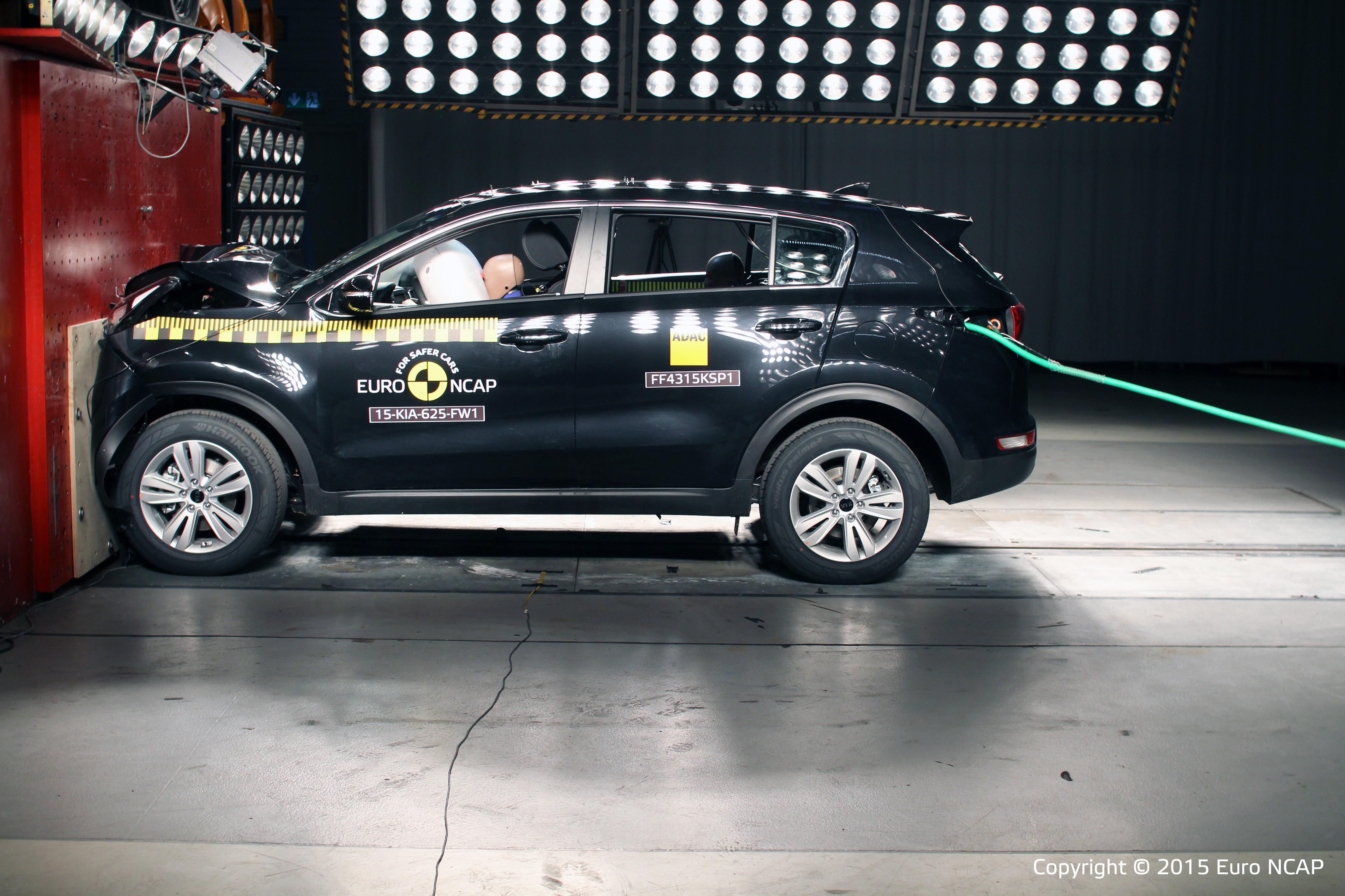 """Kia Sportage und Kia Optima mit Bestnote im europäischen Sicherheitstest NCAP """"5 Sterne"""""""